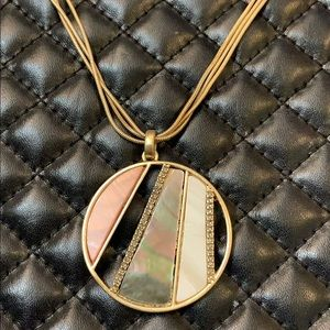 Kenneth Cole Gold MOP Chain Pendent Necklace